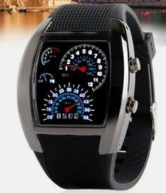Relógio de Pulso De LED Marcador estilo Velocímetros | Relógios | | TriClick por R$53,90