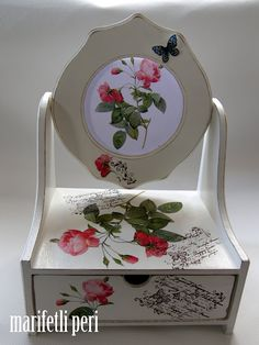 hand made and hand painted jewelry box -- www.ripetomatoes.net market for products made with love