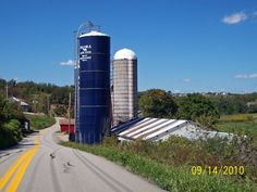 Silos at Dairy Farm in Westmoreland County PA