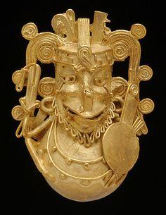 GOLD BELL Mixtec / Aztec Vera Cruz, Mexico; c. AD 1200–1521