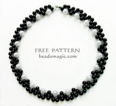 Free pattern for necklace Gatsby