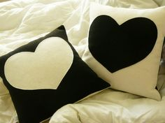 With Love  Pillow Cover for Charity by OliveHandmade on Etsy, $26.00 #blackandwhite #valentines