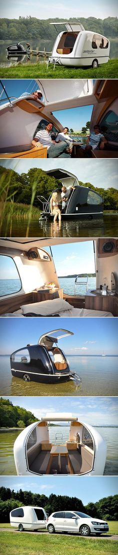 Sealander: This Camper Can Also Be Used as a Boat #camper #boat