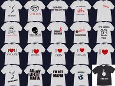 Maf T-Shirts Mafia Game, T Shirt, Fictional Characters, Supreme T Shirt, Tee, Fantasy Characters, Tee Shirt