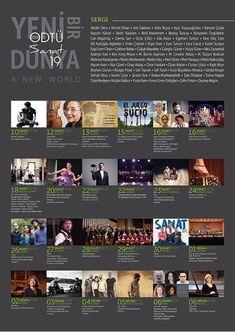 Bir ay boyunca sürecek olan ODTÜsanat19,farklı sanat dallarına yer veriyor.Konserler,film gösterimleri,tiyatrodan müzikale,panellerden atölyelere bir çok etkiliğin gerçekleştiği ODTÜsanat,9 Mart- 7 Nisan tarihleri arasında ODTÜ Kültür ve Kongre Merkez'inde...Sanat dolu günler dileriz