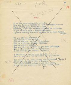 Manuscrito de Fernando Pessoa (Alberto Caeiro)
