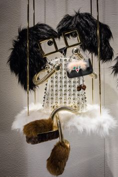 The Holiday fun begins with the shiny, happy Fendi Hypnoteyes window installations at Osaka Hankyu