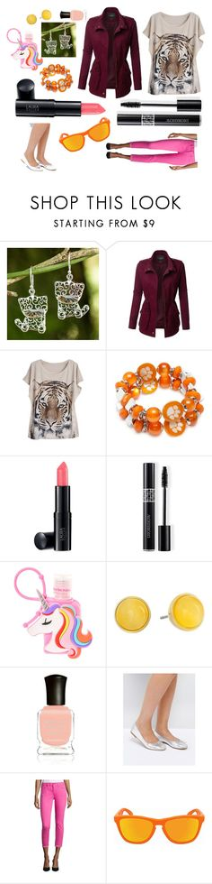 """Orange Juice and Pink Punch"" by cocharlo8 ❤ liked on Polyvore featuring NOVICA, LE3NO, WithChic, Accessory PLAYS, Laura Geller, Christian Dior, Kate Spade, Deborah Lippmann, ASOS and Oakley"