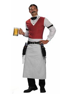 Mens Wild Western Bartender Costume | Cheap Cowboy Costumes for Men
