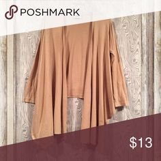 Lightweight cardigan Lightweight tan cardigan. Very cute! 100% cotton. It is long in front and short in the back. Metropolitan Other