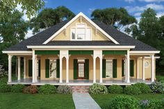 This country house plan features a welcoming front porch that promotes outdoor living. Use code GETSOCIAL for 10% off your house plan (some exclusions apply). Questions? Call 1-888-447-1946 today. #architect #architecture #buildingdesign #homedesign #residence #homesweethome #dreamhome #newhome #newhouse #foreverhome #interiors #archdaily #modern #farmhouse #house #lifestyle #design #buildersareessential Cottage Style House Plans, Cottage Style Homes, Cottage Design, Southern Homes, Southern Style, Country Style, Roof Design, House Design, Gas Fireplace Logs