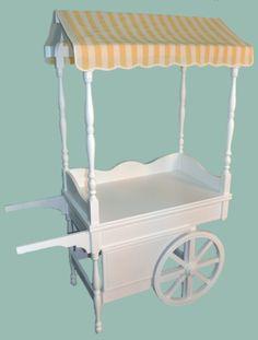 Carrito de dulces y chuches (Candy Car) para Mesa de Dulces (CandyBar)