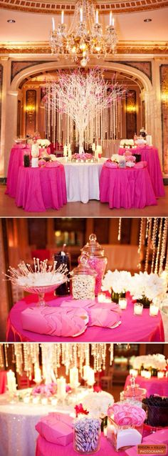 a different spin on the candy buffet But *shudders* change the gosh dang color Candy Buffet Tables, Dessert Buffet, Candy Table, Dessert Bars, Elegant Candy Buffet, Buffet Ideas, Dessert Tables, Bar A Bonbon, Party Fiesta