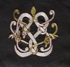 Embroidery – motive from Gotland in Urnes style. - Othala Craft