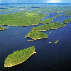 Verdant islands on Lake Saimaa, Lappeenranta, Finland Helsinki, Finland Travel, Seen, Baltic Sea, Wonders Of The World, Norway, Places To Go, Nature Photography, Beautiful Places