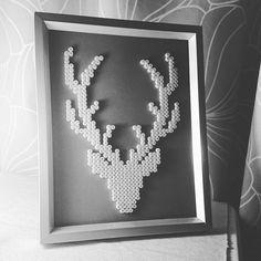 Deer hama beads by zaneiro_                                                                                                                                                      More
