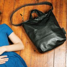 Shannon South - Portland bag, recycled leather