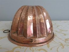 Antique FRENCH Solid Copper JELLY MOULD/MOLD