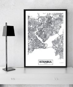 Modern City Istanbul Map Minimalist Canvas Painting Black and White Wall Art Print Poster Pictures For Living Room Home Decor Canvas Wall Decor, Map Wall Art, Wall Art Sets, Canvas Art Prints, Wall Art Decor, Cactus Wall Art, Black And White Wall Art, Black White, Wall Decor Pictures