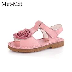 a3697dc5c62c1 Girls Shoes Genuine Leather Kids Summer 2017 Baby Girls Sandals Beach Shoes  Skidproof Toddlers Children Kids