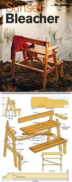 Sunset Bench Plans - Outdoor Plans and Projects | WoodArchivist.com