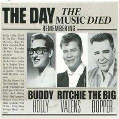 Died in plane crash, Feb. 1959