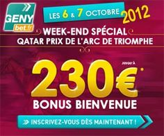 GENYbet : bonus de bienvenue jusqu'à 230 euros les 6 et 7 octobre 2012 | Actualités | BetComparative.com