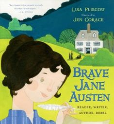 A literary picture book introducing the life and achievements of groundbreaking female novelist Jane Austen describes how she refused to settle into the status quo and how she transitioned from reading the books that were available to women in her era to writing stories about empowered women.