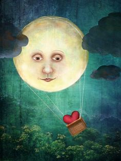 """love you to the moon"" 