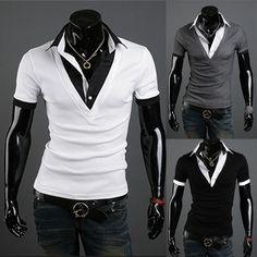 >> Click to Buy << Men'S T Shirt 2017 New Brands Mens Summer Casual T-shirt Fashion Slim Short Sleeve Lapel T Shirt False two Tees Tops Male  XXL #Affiliate