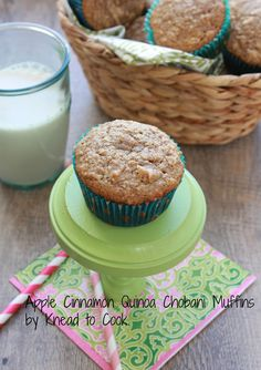 Apple Cinnamon Quinoa Chobani Muffins. {healthy}