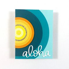"""How about a card with no stamps?! I may have gone a little overboard creating """"suns"""" with this Honey Bee Stamps circle thin frame die.   Aloha die by @mamaelephant Honey Bee Stamps, Van Design, Paper Crafts, Frame, Cards, Picture Frame, Tissue Paper Crafts, Paper Craft Work, Papercraft"""