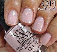 OPI Bubble Bath Nail Polish Swatches // Nail Envy Colors Collection