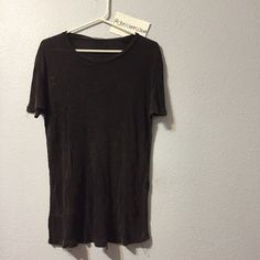 Grey ribbed top New no tags. No trades. Has loose threads. The color is dark grey. Brandy Melville Other