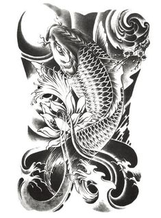 £1.29 GBP - Waves Sea Fish Water Lily Temporary Waterproof Tattoos Arm Leg Stickers Art Jy #ebay #Fashion