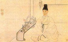 자화상 김홍도  김홍도(金弘道, 1745년 ~ 1806년?)는 조선 후기의 화가이다. 본관은 김해, 자는 사능(士能), 호는 단원(檀園)·단구(丹邱)·서호(西湖)·고면거사(高眠居士)·취화사(醉畵士)·첩취옹(輒醉翁)이다.