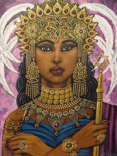 "Queen of Sheba The first use in the Bible of the word ""queen"" refers to a Black woman (1 Kings 10:1). Her name is alleged to be Makeda, but the Scriptures refer to her as the Queen of Sheba or the Queen of the South. Her fame was such that 2,000 years after her death, …"