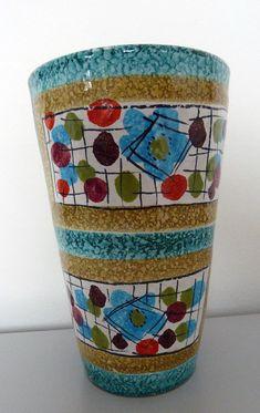Mid Century Vintage Retro Fratelli Fanciullacci Italian Pottery Vase/Pot