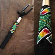 Beaded selfie stick #beadwork #indigenous #nativedesigns