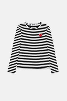 6b25df99ea4 Comme Des Garcons — Play Striped T Shirt Black White — THE LINE Blue Jeans