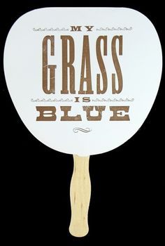 My Grass is Blue: Yee-Haw printed fan. And a darn good Dolly Parton album.