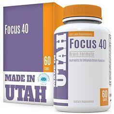 Brain Booster Focus 40 Brain Formula is a Powerful Nootropic & Brain Supplement #SaltLakeSupplements