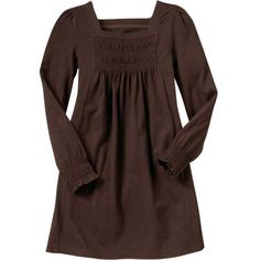 GapKids: Smocked dress - classic brown ($23) ❤ liked on Polyvore featuring dresses and girls dresses