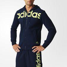 Felpa uomo ADIDAS con cappuccio hoody men blue aperta con zip blu 5329 | eBay