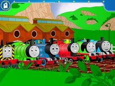 Thomas, Percy and James, Diesel, Gordon and Edward.