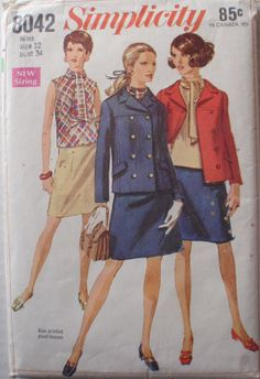 Women's Vintage 60's Sewing Pattern Lined Jacket by Shelleyville, $8.00