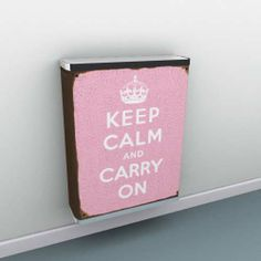 Keep calm and add pink with retro style - via this Martin Whiscombe design on our YOYO radiator covers