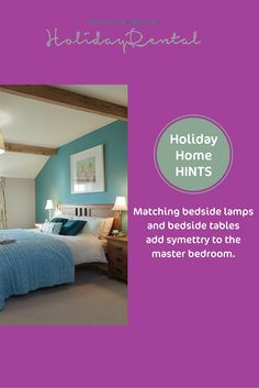 Styling your master bedroom in your holiday home #holidayhomeowners