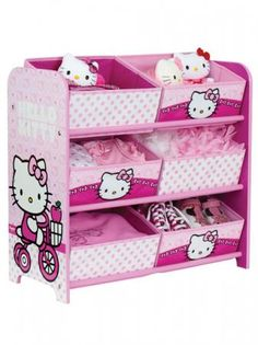 ESTANTERIA ORGANIZADORA CESTOS HELLO KITTY - Mundobebe.es tienda regaloropa decoración infantil niños bebes
