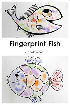 Fingerprint Fish - a fun art project for kids